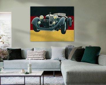Mercedes - Benz SSK710 van 1930 voor de Duitse vlag
