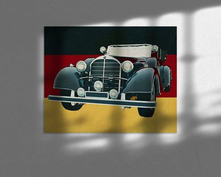 Sfeerimpressie: Mercedes 770K Limousine uit 1938 voor de Duitse vlag van Jan Keteleer