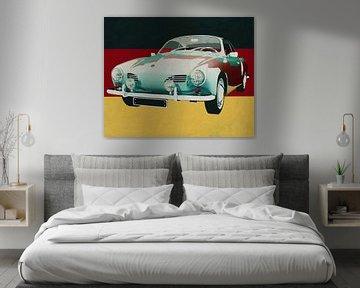Volkswagen Karmann Ghia uit 1959 voor de Duitse vlag