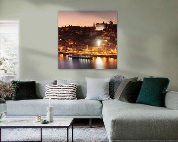 Porto bij zonsondergang, Portugal van Markus Lange