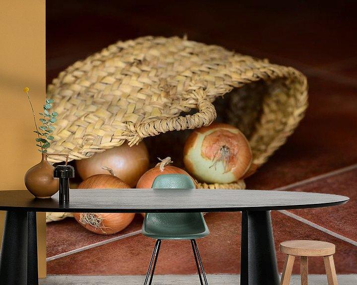Beispiel fototapete: Zwiebeln im Korb von Ulrike Leone