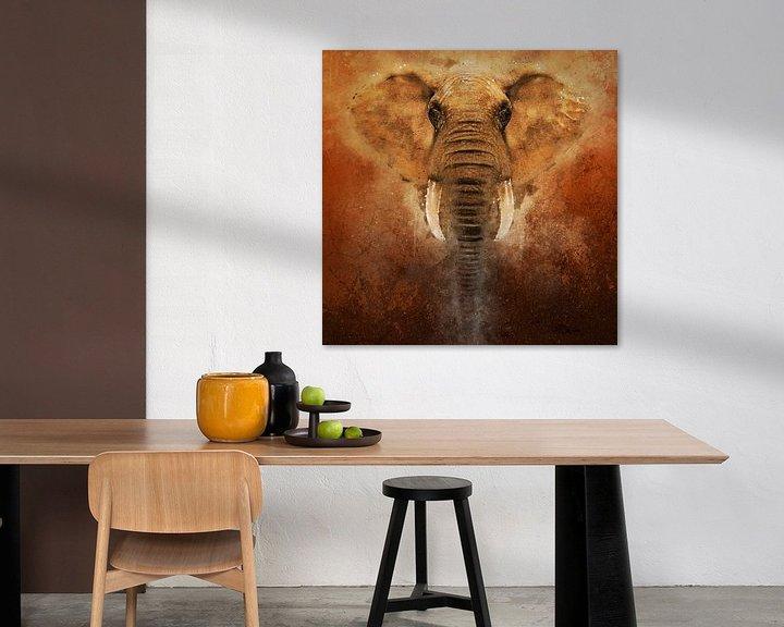 Sfeerimpressie: Geschilderde olifant van Arjen Roos