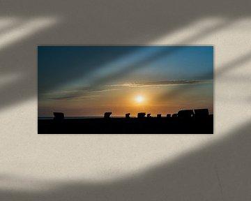 Zonsondergang op het strand van Christoph Schaible