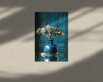 blaue Vase mit Hortensie von Jacques Splint