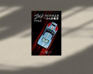 Sieger der Herzen 24 Heures du Mans 1966, Ken Miles von Theodor Decker