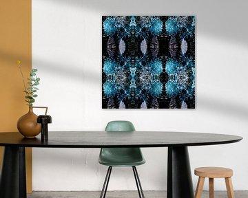 Collage aus zerbrochenem Glas von Rob van der Pijll