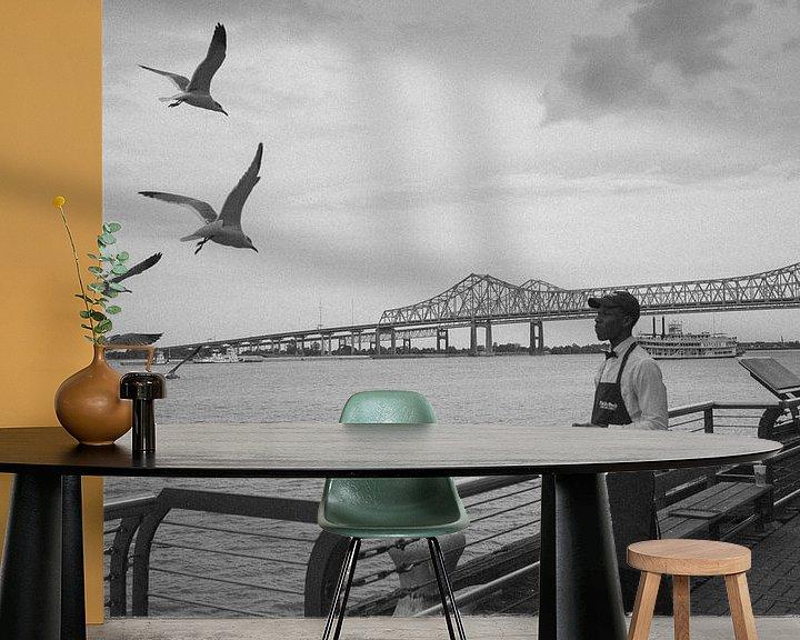 Beispiel fototapete: Vögel an der Uferpromenade von Gijs Wilbers