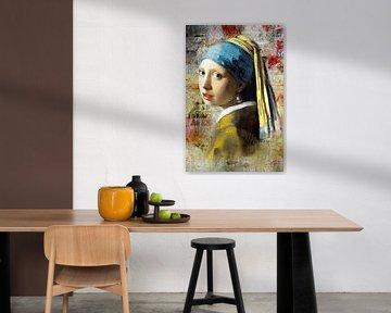 Meisje Met de Parel – On the Wall Edition van Marja van den Hurk