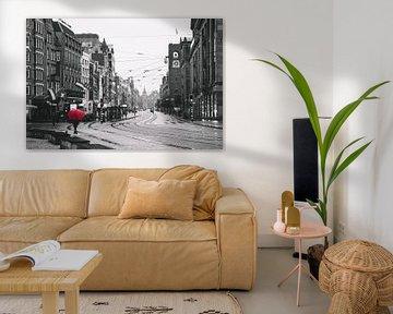 Regentag in Amsterdam von Mike van Prattenburg