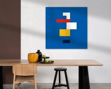 Kubistischer Bauhaus-Entwurf von Raymond Wijngaard