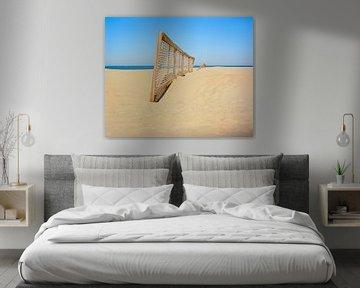 Hek op het strand van Johan Vanbockryck