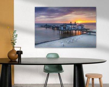 RÜGEN-pier in Sellin bij zonsopgang van Melanie Viola