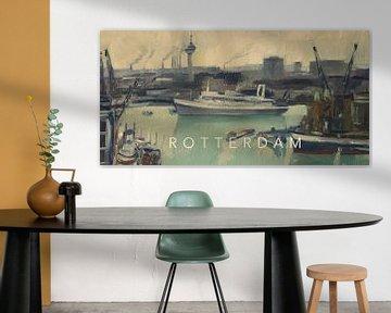 SS Rotterdam verlässt den Hafen von Rotterdam von Nop Briex
