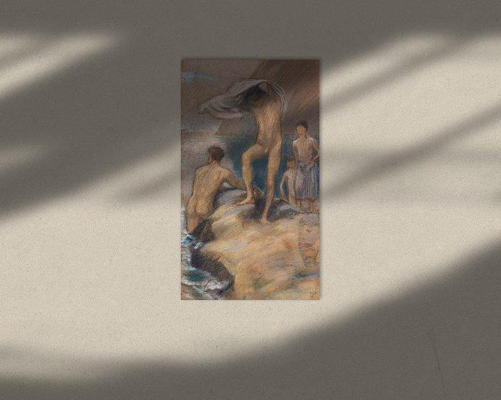 Beispiel: Badende Knaben, LUDWIG VON HOFMANN, Ca. 1890 von Atelier Liesjes