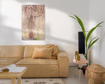Zebra-Geister-Felsmalerei von Bobsphotography