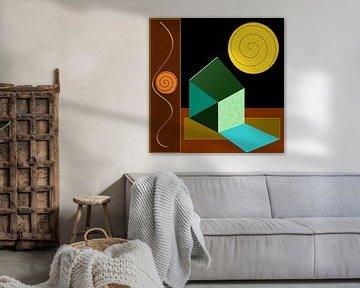 Bauhaus inspirierte Abstraktion von Thea Walstra