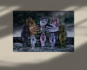 Das Hand Haus surrealismus Fantasy Düster von Stefan teddynash