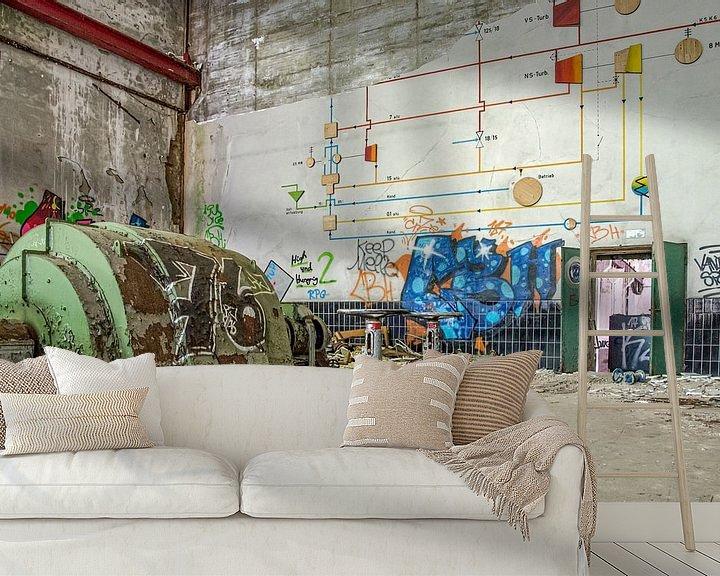 Beispiel fototapete: die Fabrikhalle von Nadine Rall