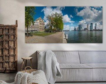 Blick auf die Maas in Rotterdam, Kop van Zuid von Henno Drop