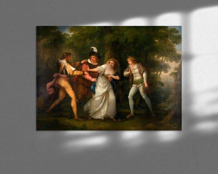 Beispiel: Valentin, Proteus, Sylvia und Giulia im Wald, Angelika Kauffmann