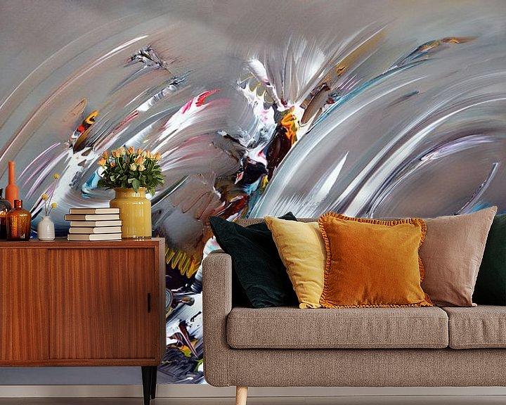 Sfeerimpressie behang: Abstract Thoughts van Gena Theheartofart