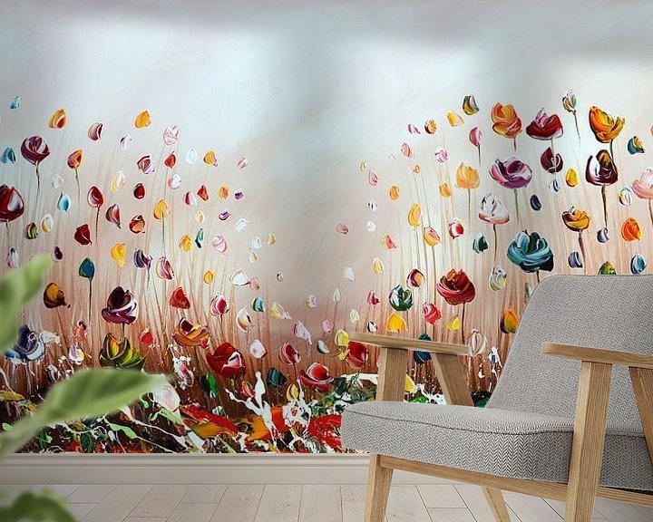 Beispiel fototapete: Bunte Blumen von Gena Theheartofart