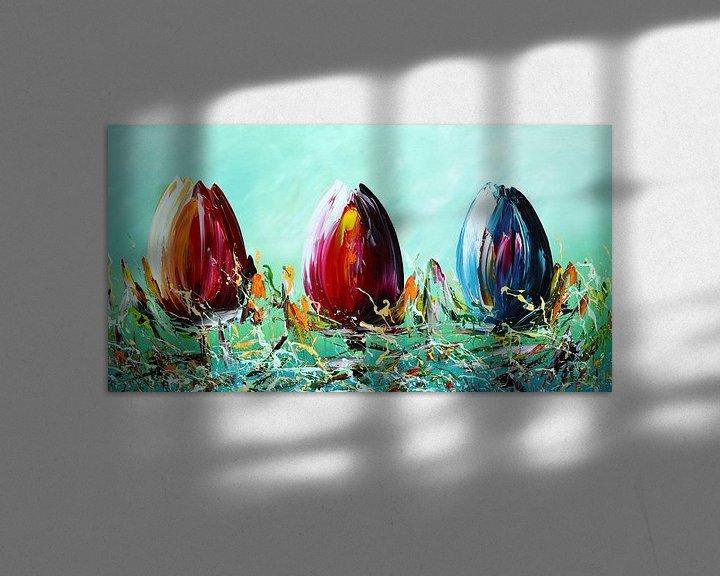 Beispiel: Grüne Tulpen von Gena Theheartofart