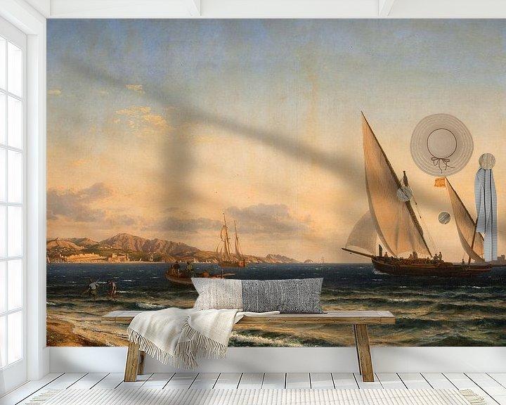 Impression: Aften ved Middelhavet. I baggrunden Marseille og øen If, Emanuel Larsen