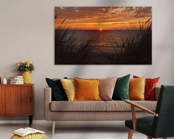 Zonsondergang vanuit het Texelse duingras van Egbert van Ede