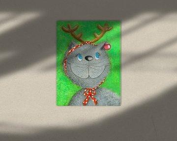 Katze Lina die Weihnachtskatze von Atelier BuntePunkt