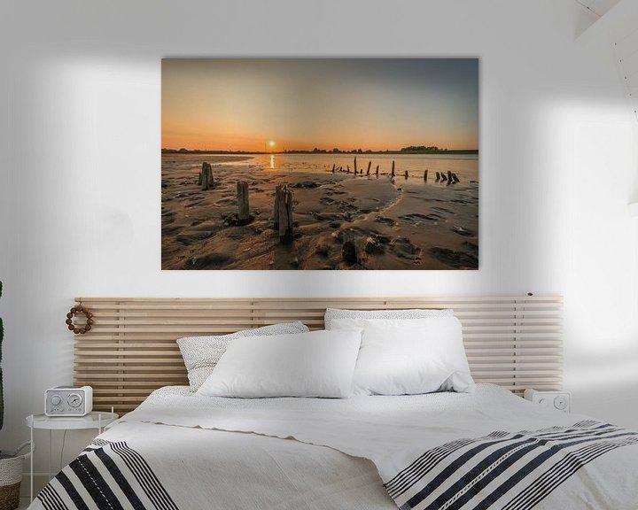 Sfeerimpressie: Zonsondergang bij rivier de Lek van Moetwil en van Dijk - Fotografie