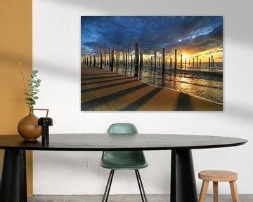Palendorp Petten bij zonsondergang van FotoBob