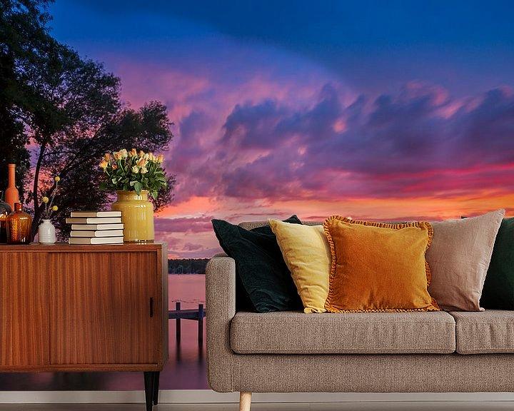 Beispiel fototapete: Wannsee Sonnenuntergang von Heiko Lehmann