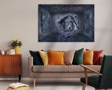 Das Welt Ei im surrealistischen Raum von Stefan teddynash