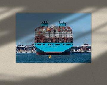 Enorm containerschip