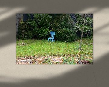 Blauer Stuhl von Susanne Seidel