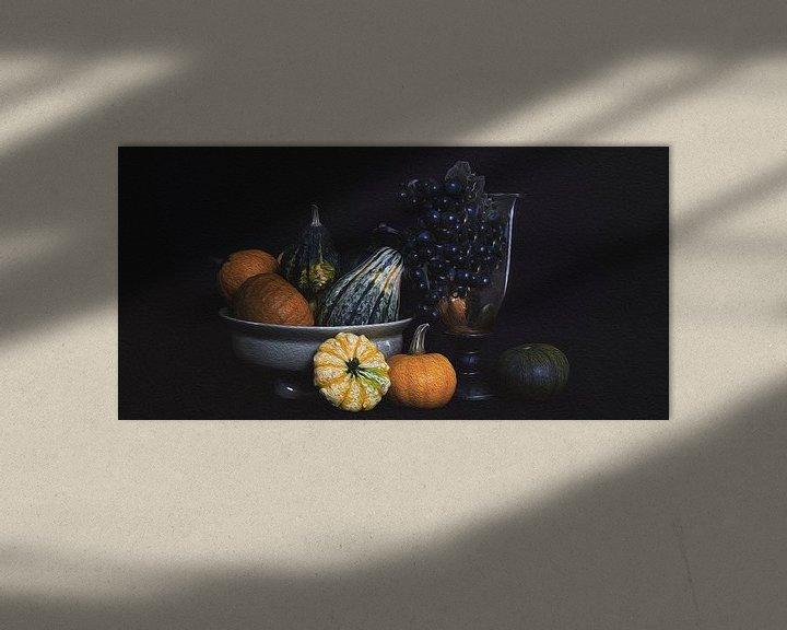 Beispiel: Stilleben Kürbis im Herbst von Mei Bakker