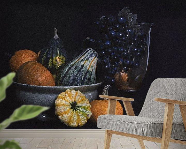 Beispiel fototapete: Stilleben Kürbis im Herbst von Mei Bakker