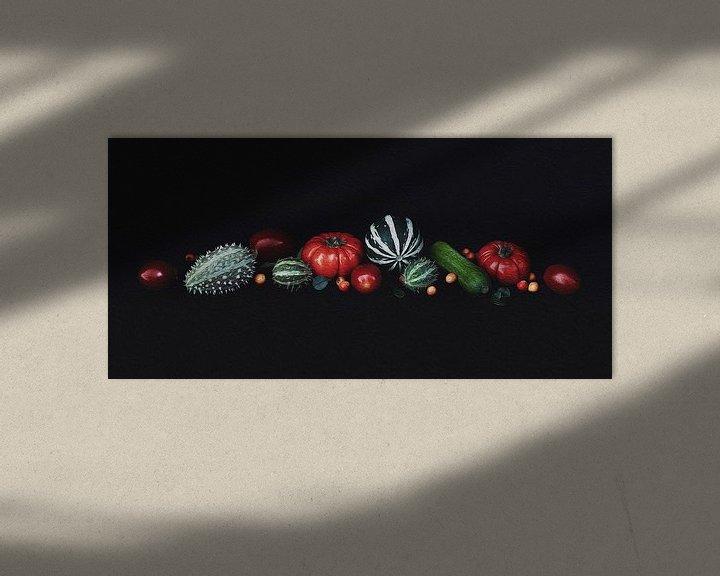 Beispiel: Stilleben Kürbis von Mei Bakker