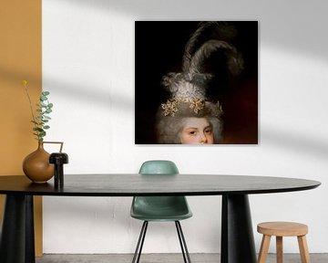 Geändertes antikes Porträt von David Potter