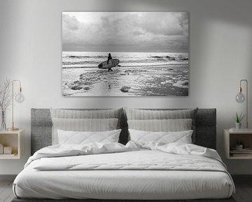 Surfer | Noordzee | Artprint | Artwork | Suppen van Mascha Boot