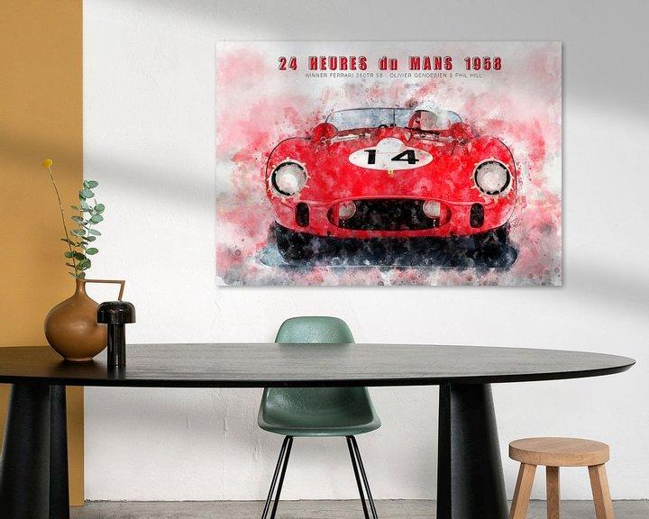 Beispiel: Le Mans Sieger 1958 von Theodor Decker