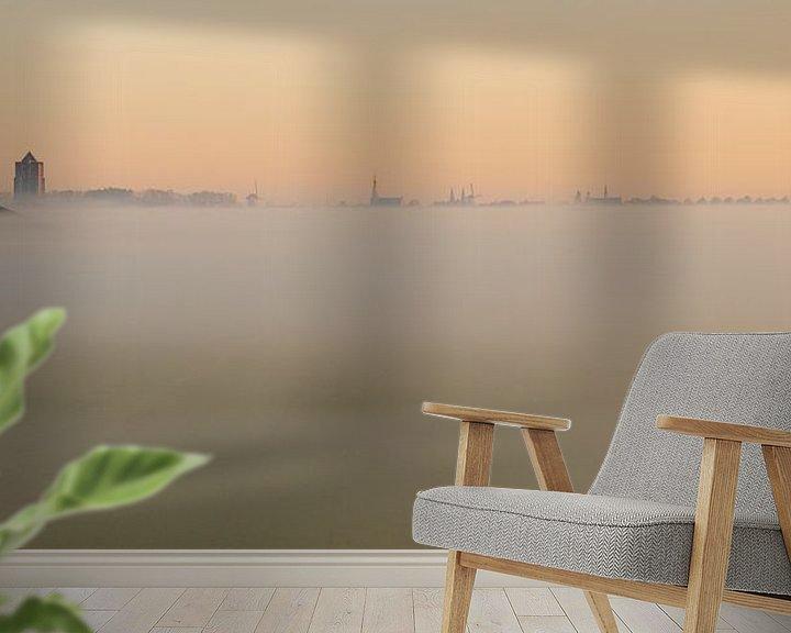 Impression: Zierikzee dans le brouillard du matin sur Jan Jongejan