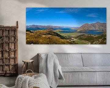 Rocky Peak Viewpoint / Panorama: Uitzicht op het Wanakameer en Roys Peak van Be More Outdoor