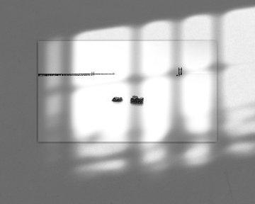 Een minimalistisch zeegezicht van Eddy Westdijk