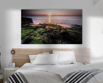 Zeegezicht vanaf de Brouwersdam van Eddy Westdijk