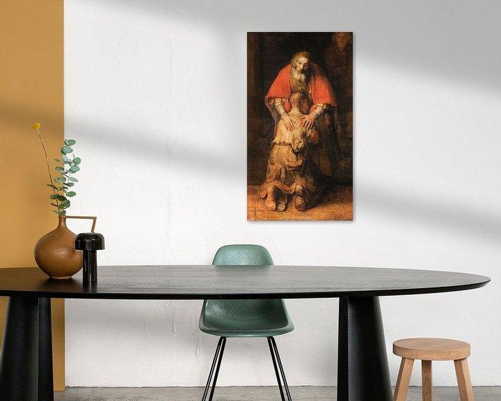 Sfeerimpressie: Terugkeer van de Verloren Zoon (uitsnede), Rembrandt van Rijn