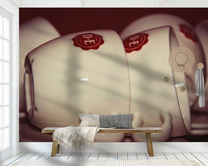 Sfeerimpressie behang: Koffiekopjes van Erik Creugers