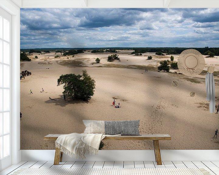 Sfeerimpressie behang: Kootwijkerzand van Greetje Heemskerk