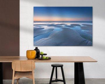 Getijden poeltjes Noordzeestrand van Jurjen Veerman
